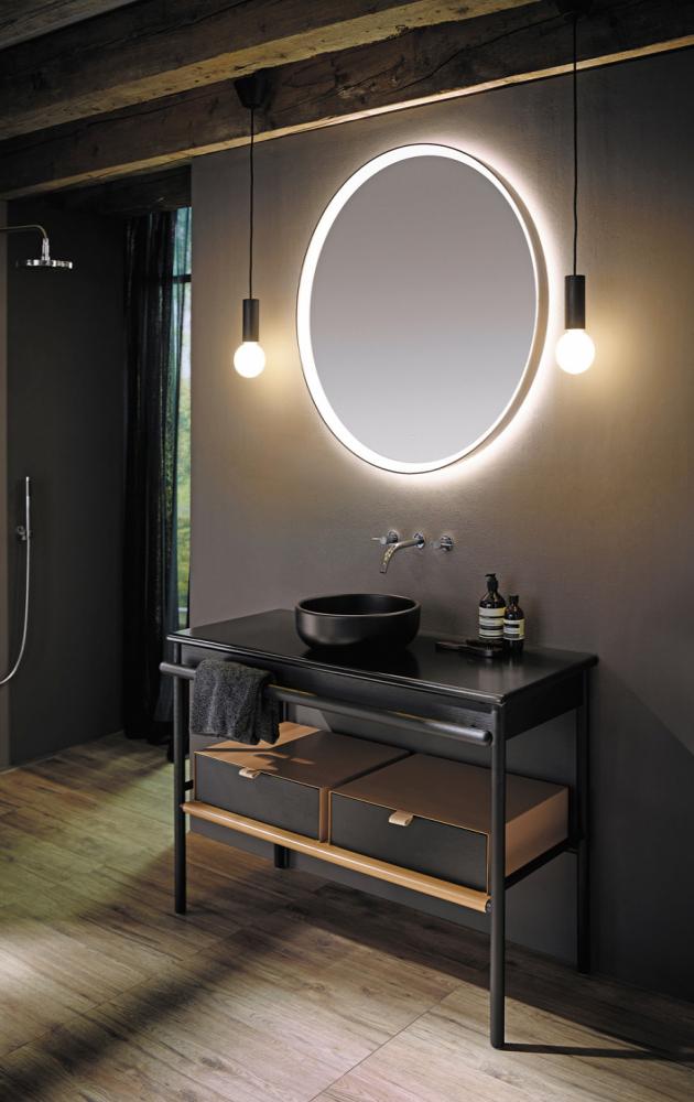 Závěsné svítidlo ze série Mya (Burgbad), lakované dubové dřevo, 10 × 100 × 10 cm, cena na dotaz, WWW.BURGBAD. DE
