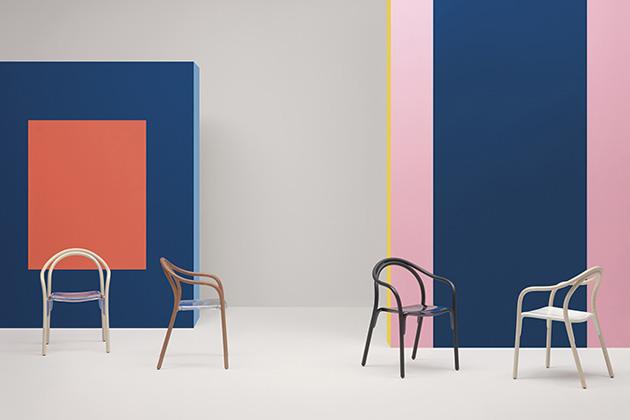 Zbrusu nová varianta dávno oblíbené židle byla představena pod názvem Soul Soft (Pedrali)