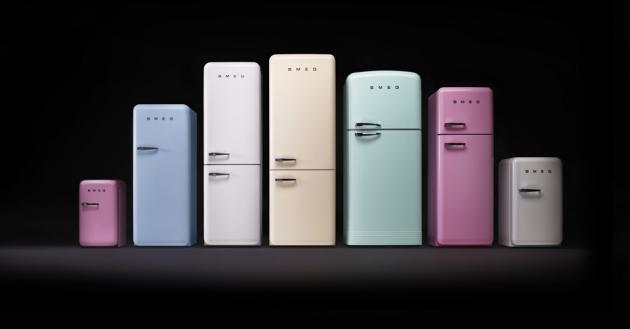 Kombinovaná chladnička s mrazničkou FAB38RCR (Smeg), dvoudveřová 70 cm, creme, A++, interní LED displej, cena na dotaz, WWW.SMEG.CZ