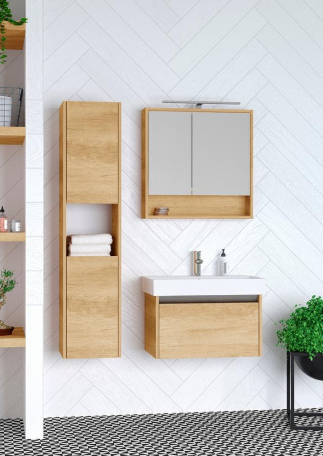 Galerka Focus má kromě standardního úložného prostoru za zrcadlem ještě praktickou poličku