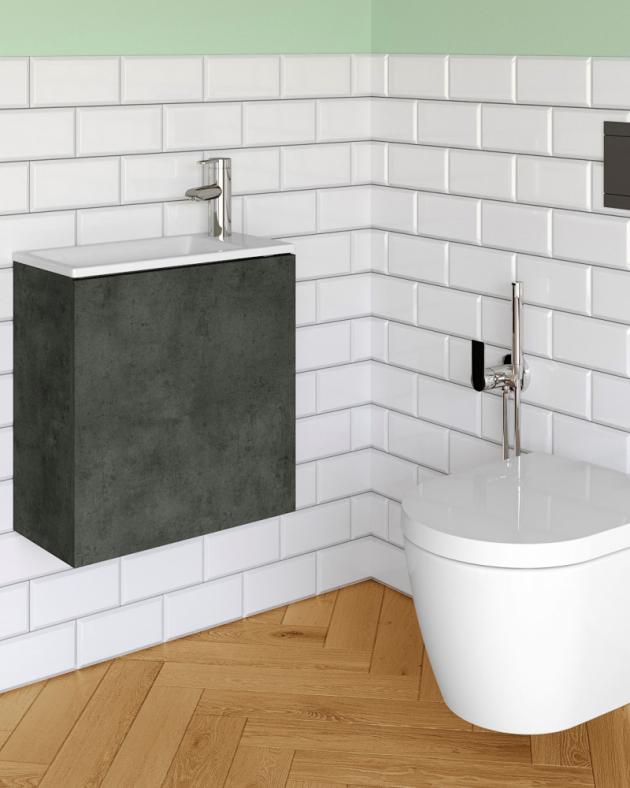 I malá koupelna může být stylová, třeba se skříňkou Variante s umyvadlem Zoom
