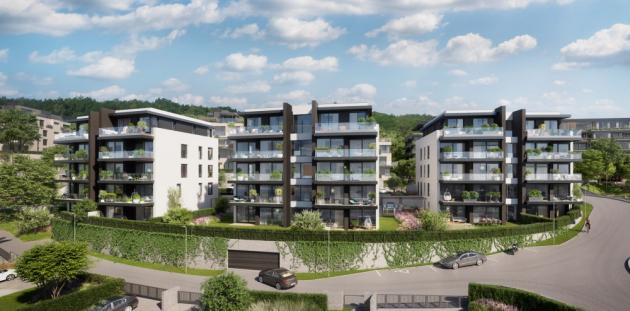 KKCG Real Estate Group zahájila prodej bytů a řadových rodinných domů 2. etapy top' rezidence Pomezí v Praze 5. Nabízí 59 nadstandardních bytů, 38 prémiových řadových rodinných domů a také 5 exkluzivních vil.