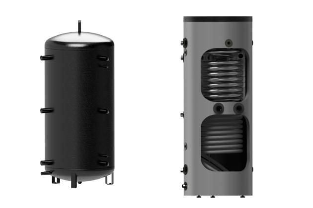 Akumulační nádrž – zásobník topné vody – NADS 800 v3 (DZD) a akumulační nádrž – zásobník topné vody – NADO 300 v6 (DZD)