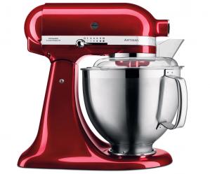 Kuchyňský robot Artisan KSM125 (KitchenAid), královská červená, cena18 190 Kč, WWW.POTTENPANNEN.CZ