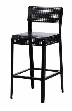 Barová stolička s opěradlem Frekvens (IKEA), vnitřní i venkovní, černá, cena 1 290 Kč, WWW.IKEA.CZ