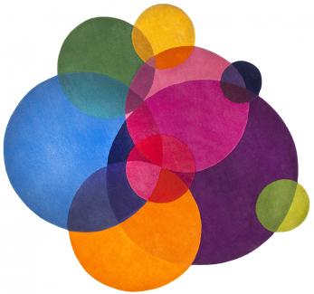 Koberec Bubbles (Sonya Winner Studio), 100% vlna, 200 × 200 cm, cena 85 710 Kč, WWW.CLIPPINGS.COM