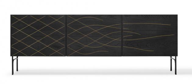 Komoda Couture (BD Barcelona Design), design Fredrik Färg a Emma Marga Blanche, dřevo a ocel, 180 × 40 × 67 cm, cena od 113 091 Kč, WWW.LINO.CZ