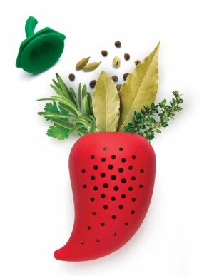 Dávkovač koření Chili Herb Infuser (Ototo), zdravotně nezávadný silikon,cena 14 $, WWW.OTOTODESIGN.COM