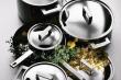 Sada hrnců Attiva (Mepra), 12 kusů, nerezová ocel 18/10, cena 42 620 Kč, WWW.LUXURYTABLE.CZ