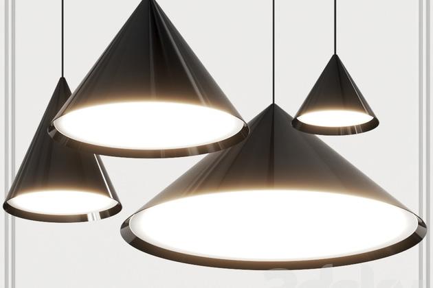 Závěsná svítidla zkolekce Keglen (Louis Poulsen) potěší svým jemným rozptýleným světlem.