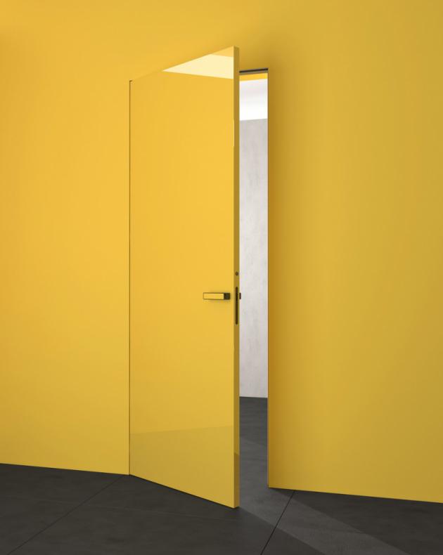 Dveře Flat se skrytou zárubní s návazností dveřního křídla na plochu stěny (Hanák nábytek), výběr z mnoha odstínů a materiálů, cena na dotaz, WWW.HANAK-NABYTEK.CZ