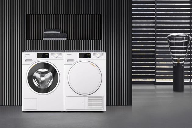 Pračka WWD 120 (Miele), energetická třída A+++, 8 kg prádla, 11 programů, voštinový buben, funkce předžehlení, Profi Eco motor, cena 22 990 Kč, sušička TWB 140 WP (Miele), energetická třída A++, 7 kg prádla, 11 programů, systém PerfectDry, technologie Eco Dry, funkce AddLoad, cena 22 990 Kč, WWW.MIELE.CZ