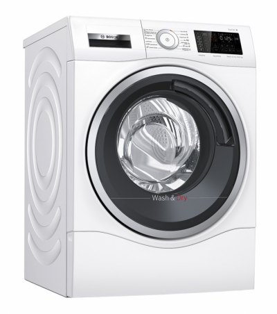 Nová kombinovaná pračka se sušičkou Bosch WDU8H541EU dokonale prádlo vypere i vysuší. V jednom cyklu samostatně vypere až 10 kg prádla a 6 kg prádla dokáže najednou vyprat i usušit. K dokonalosti přispěje i ošetření párou Iron Assist, díky které se prádlo vyhladí, takže některé kusy ani není potřeba žehlit. Komfort užívání zvyšuje extrémně tichý motor a také chytré připojení Home Connect.
