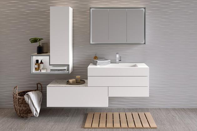 Koupelnová sestava Tetrim (hülsta), bílý lak, mat, umělá keramika, cena od 195 636 Kč, WWW.HOMESTYLE.CZ