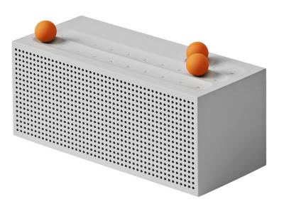 Ball Internet Radio (SF-SO), design Jaehoon Jung a Hoyoung Joo, ovládání zajišťují tři magnetické oranžové kuličky, cena na dotaz, WWW. F-SO.COM