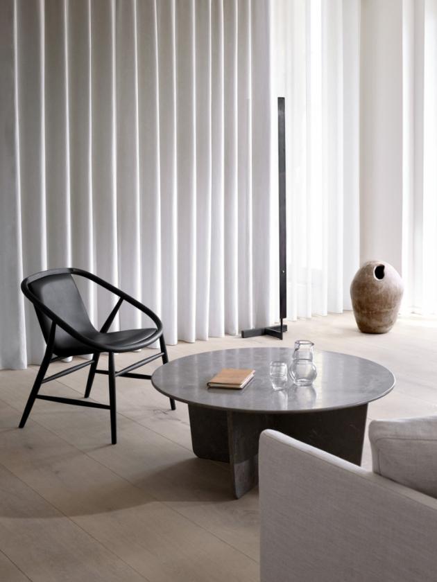Odkládací stolek Tableau (Fredericia), kámen, O 100 cm, výška 40 cm, cena na dotaz, WWW.FREDERICIA.COM