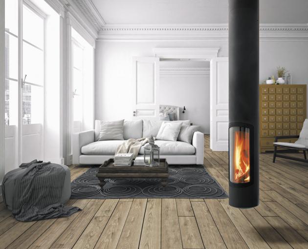 Závěsný krb Slimfocus (Focus), design Dominik Imbert, ve variantě na dřevo nebo na plyn, cena na dotaz, WWW. KRBYFOCUS. CZ