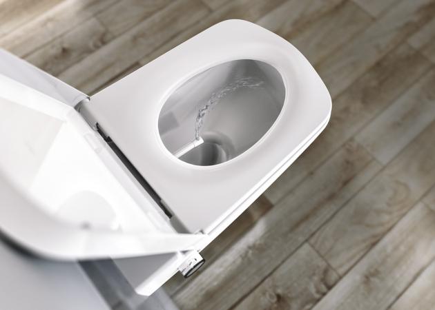 Bidetovací WC Tece one (Tece), 400 × 540 × 350 mm, sprchovací funkce, rimless, bílé, cena 23 124 Kč, WWW.KOUPELNY-PTACEK.CZ