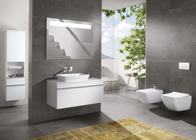 Závěsné WC Venticelo (Villeroy Boch), 375 × 560 mm, vč. sedátka Combi-Pack, bílá alpin, cena od 15 460 Kč, WWW.SIKO.CZ