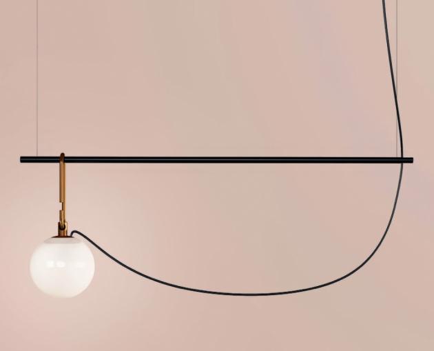 Stropní svítidlo nh Suspension (Artemide), design NeriandHu, ocel a sklo, více variant, cena na dotaz, WWW. SELENE. CZ
