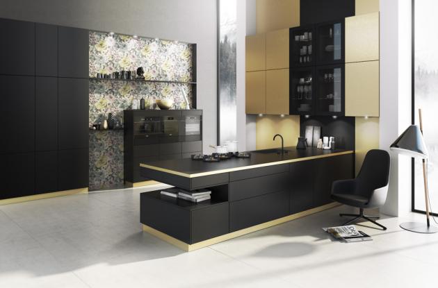 U sestavy Berlin (Bauformat) je použitý luxusní povrch zhotovený z plátu kartáčované mosazi, která je připevněná k podkladu a ochráněná tenkým laminátem, WWW.ORESI.CZ