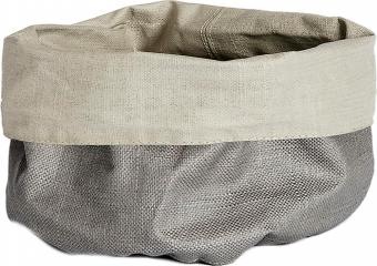 Lněná ošatka na pečivo XS Patinn (Simla), 55 % len, 45 % bavlna, O 16 cm, výška 20 cm, béžová, světle šedá, cena 509 kč, WWW.WESTWINGNOW.CZ