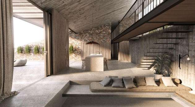 Obývací prostor - část pro hosty