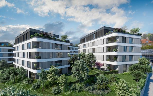 Exkluzivní rezidenční projekt Maison Ořechovka developerů Penta Real Estate a bpd development navrhli uznávaní architekti Jiří Řezák a David Wittassek z ateliéru QARTA architektura