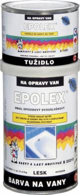 Barvou na vany Epolex lze snadno nahradit materiál, který byl na vanu nanášen původně. Tvrdost je přibližně stejná jako tvrdost akrylátových van. Balení obsahuje dvě složky, které se skládají z vlastní epoxidové nátěrové hmoty a iniciátoru, který aktivuje tvrzení.