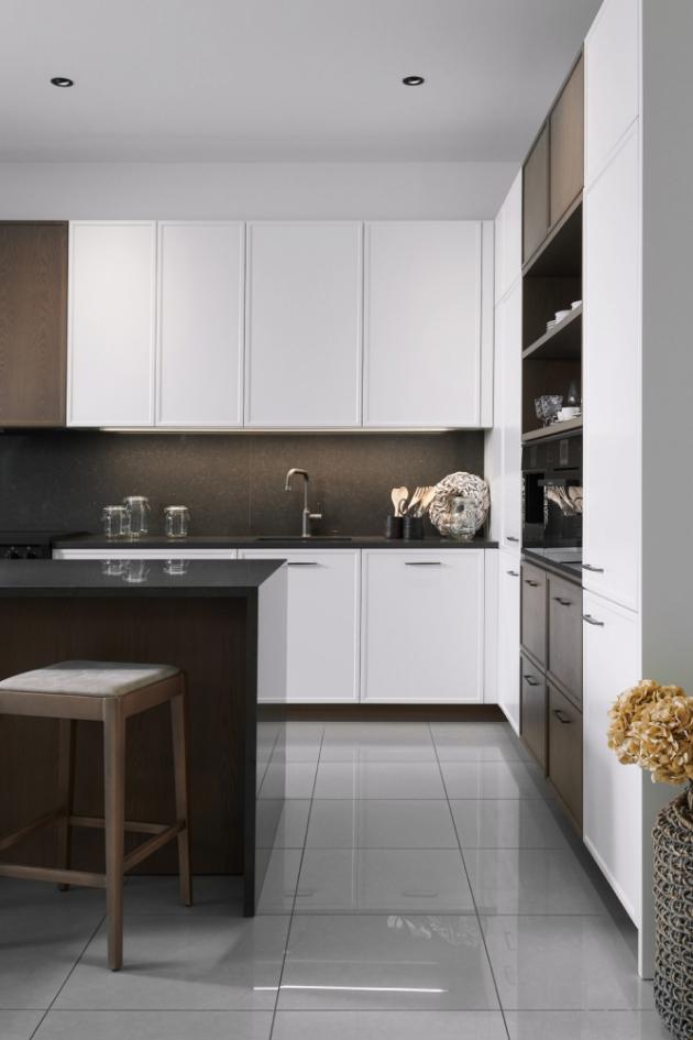 Model kuchyně Lyon s decentním rámečkem