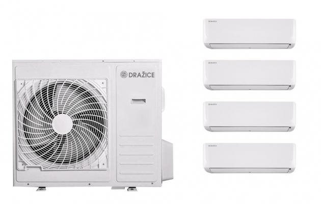 Multisplit AIR Plus Quattro – jedna venkovní jednotka se čtyřmi vnitřními zajistí optimální komfort v celém bytě.