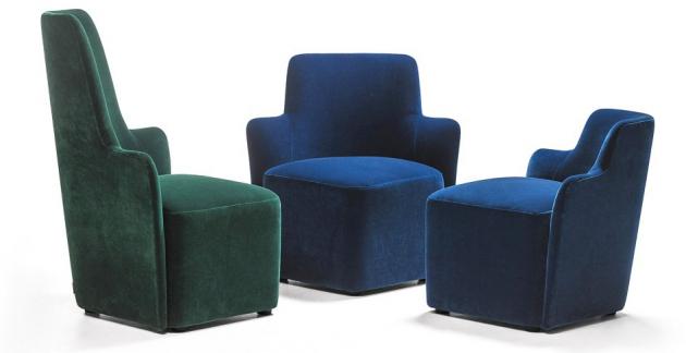 Křeslo Velour (La Cividina), design Antonio Rodriguez, dostupné v několika velikostech, cena od 43 439 Kč, WWW.LINO.CZ