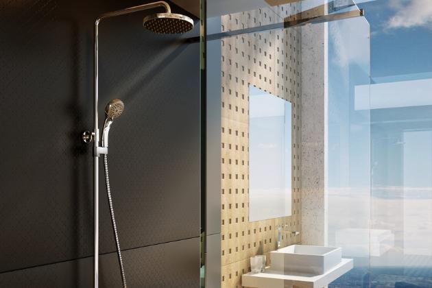 Někdy má člověk chuť na delší relaxační sprchu, nic nedělat, jen si užívat déšť svrchu dopadajících kapek na ramena a vlasy. Někdy je ale potřeba vzít věci do svých rukou, rychle se umýt a vyrazit. Termostatický sprchový sloup RAVAK shlavovou i ruční sprchou je ktomu ideální řešení.