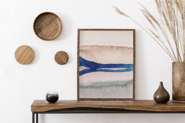Autorská reprodukce akvarelu Země (Zuzana Murtinger), 40 × 60 cm, cena 2 790 Kč, WWW.KITCHENETTESHOP.CZ