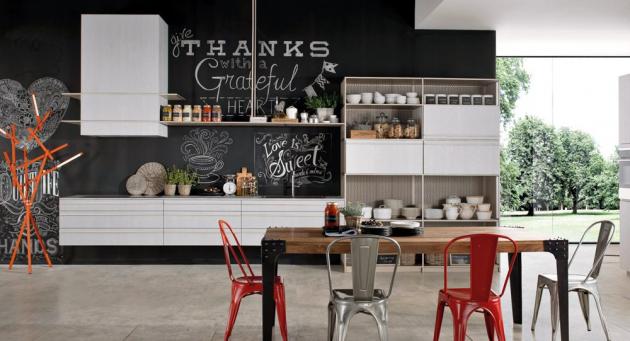Kuchyň Beluga (Rastelli Cucine), design Ferruccio Laviani, charakteristická střídáním plných a prázdných míst a geometrickými liniemi, dubové dřevo a kov, cena na dotaz, WWW.RASTELLICUCINE. IT