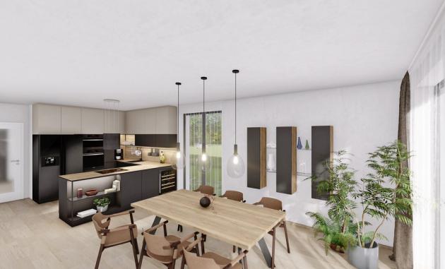 Při plánování kuchyně je důležité dbát na návaznost prostoru s obývacím či jídelním prostorem. Výhodou při zařizování kuchyně v showroomu CASA MODERNA je propojení s celým interiérem, který vám zde kompletně zařídí