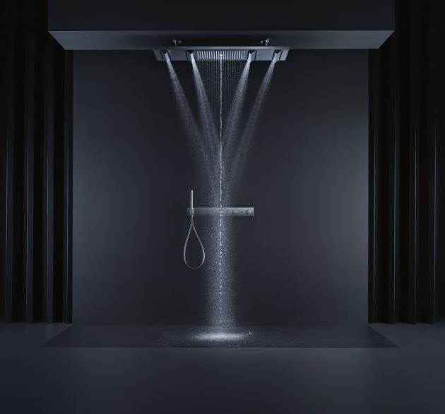 Sprchový systém Shower Heaven (Axor) s osvětlením, chrom, cena 264 680 Kč, WWW.SIKO.CZ