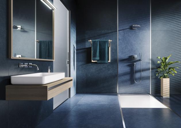 Sprchovací plocha Nexsys (Kaldewei), smaltovaná ocel, 140 × 90 × 2,6 cm, cena 19 154 Kč, WWW.SIKO.CZ