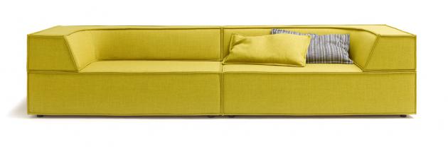 Modulární sofa Trio (Cor), design Team form AG, rám z masivního buku, šířka 100 až 300 cm, výška sedu 38 cm, cena 126 509 Kč, WWW.COR.DE