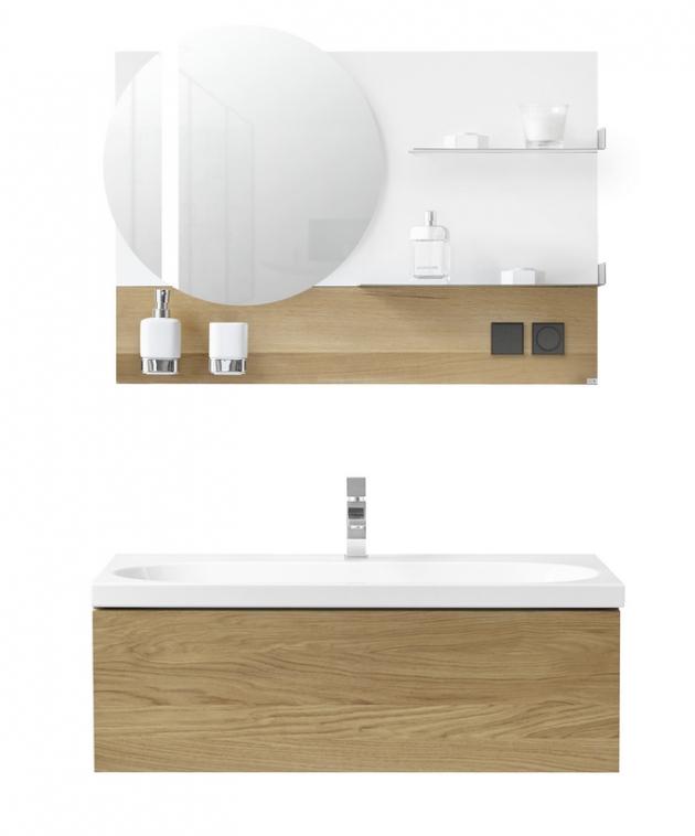 Výhodou kombinace dřevodekorů suniverzálními barvami je jejich kompaktibilnost se širokou paletou módních odstínů na koupelnových doplňcích, www.drevojas.cz