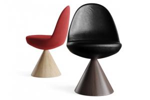 Italský výrobce opět spojil své know-how s kreativní energií studia GamFratesi, a tak vznikla čalouněná otočná židle Romby (Porro).