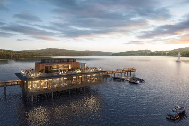 Architektonická vize od uznávaného studia Chapman Taylor i plán jejího provedení jsou jedinečné a nové molo se stane nejdelším vnitrozemským ve střední Evropě. Výstavbou mola se naplňuje další významný milník v projektu luxusního komplexu MOLO Lipno Resort, jehož součástí molo svyhlídkovou restaurací a vyhřívaným plovoucím bazénem je. Plánované dokončení výstavby mola je v 2. polovině roku 2021.