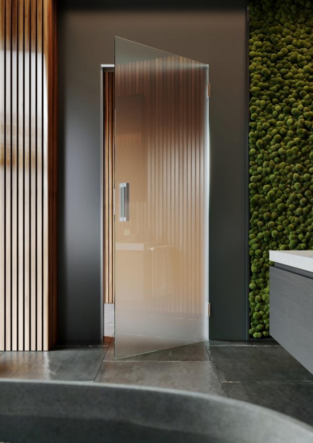 Skrytá zárubeň AKTIVE GLASS je určená speciálně pro jednokřídlé celoskleněné dveře, které se otevírají z pohledové strany směrem k sobě a přesně lícují s povrchem zdi, www.japcz.cz