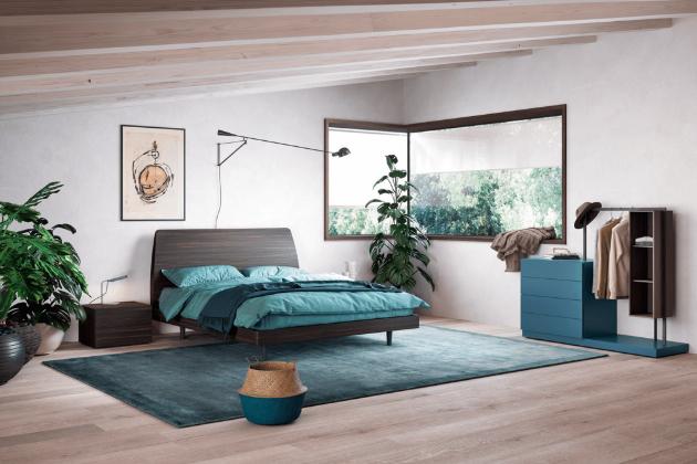 Nadčasová postel Dedalo (Novamobili), rozměr 95 × 219 × 173 cm, cena od 29 887 Kč, WWW.LINO.CZ