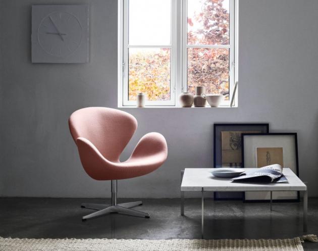 Jedním z nejznámějších děl, jímž si Arne Jacobsen získal mezinárodní uznání, je křeslo Swan.