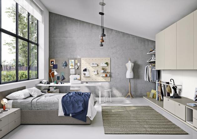 Studentský pokoj Next 10 (NIDI), lamino, cena čalouněné postele 33 880 Kč, cena sestavy od 320 000 Kč, WWW.SPACE4KIDS.CZ
