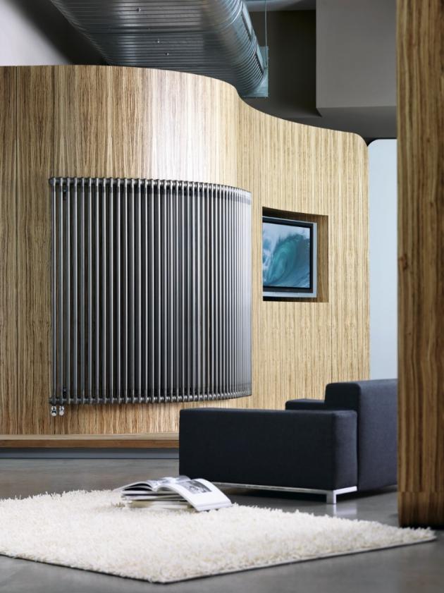 Radiátor Charleston (Zehnder), článková konstrukce, hladký povrch, široká škála rozměrů, barev, tepelných výkonů, typů připojení vč. atypů, cena na dotaz, WWW.ZEHNDER.CZ