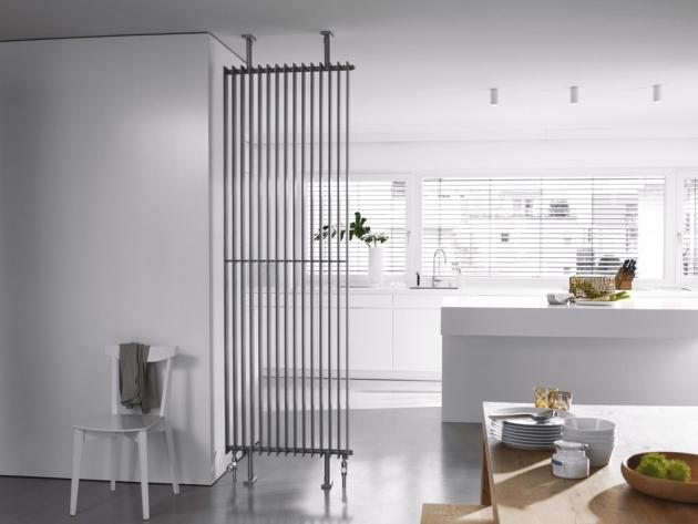 Radiátor Excelsior (Zehnder), ploché oválné trubky, ideální v provedení rozdělujícím prostor, cena na dotaz, WWW.ZEHNDER.CZ
