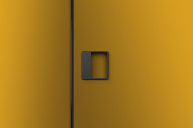 Zapuštěné madlo JOO (MaT) určené pro systém M&T magnetic, design Roman Ulich, možnost výměny vnitřní magnetické desky pro sjednocení barvy madla s dveřmi, cena na dotaz, WWW.KLIKY-MT.CZ