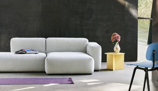 Modulární sofa Mags Soft (HAY), rám z dřevěné konstrukce, výplň polyuretanová pěna, pružinový systém, výška sedu 37 cm, cena od 85 838 Kč, WWW.STOCKIST.CZ